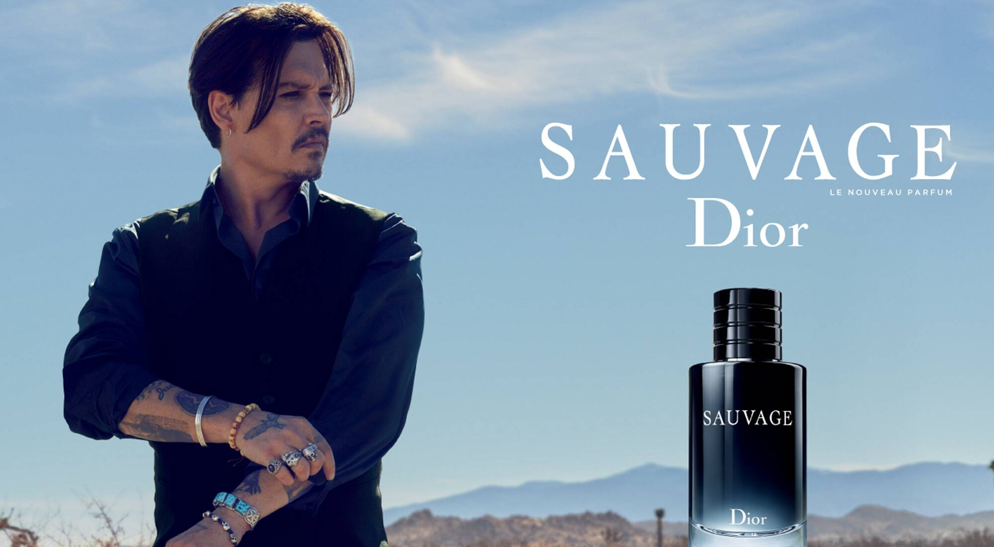 Johnny Depp embodies Sauvage, the new men's fragrance from Dior - LVMH