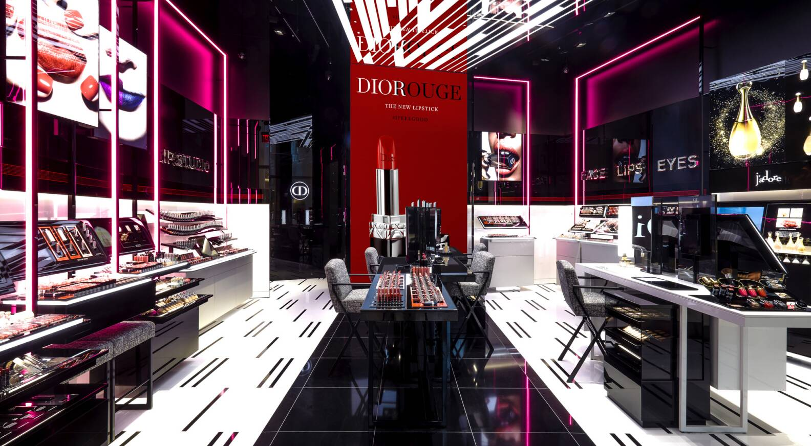 New Dior Makeup Boutique Lights Up New York Lvmh